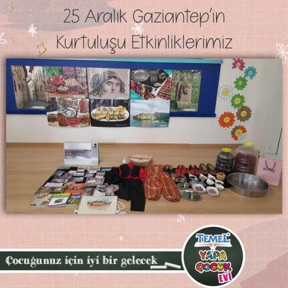 25 Aralık Gaziantep'in Kurtuluşu Etkinliğimiz